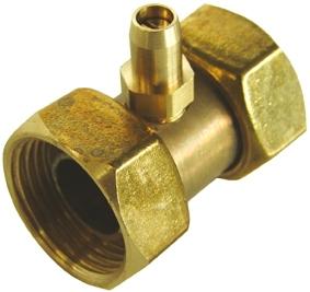 G116T Doble tuerca de 3/4  a 1/2 con toma de presión