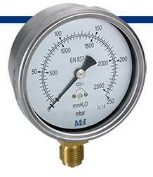 GM100 Manometro 0-100 grs 1/2.diametro 100 mm